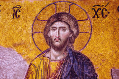 Mosaic of Jesus Christ. Royalty Free Stock Images