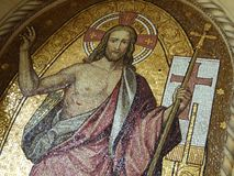The Mosaic of Jesus Christ stock photo