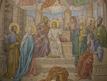 Mosaic of Jesus lost and found in the Temple Stock Photography
