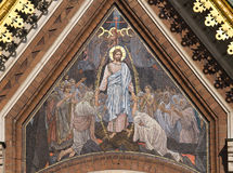 Mosaic with Jesus on wall Stock Photos