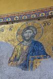 Mosaic of Jesus on the wall, Hagia Sophia Istanbul Stock Images