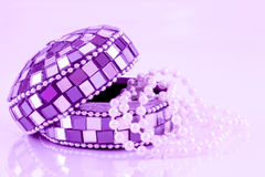 Mosaic jewelry box Royalty Free Stock Images