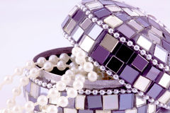 Mosaic jewelry box Stock Photo