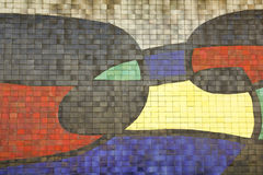 Mosaic Of Joan Miro, detail. Barcelona Stock Photo