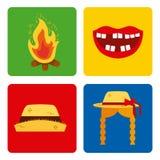 Mosaic junina festivity. Vector icon illustration design graphic stock illustration