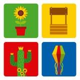 Mosaic junina festivity. Vector icon illustration design graphic royalty free illustration