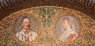 Mosaic of Kaiser Wilhelm II Stock Photography