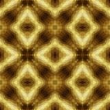 Mosaic kaleidoscope seamless pattern background - gold yellow, beige and brown colored. Mosaic kaleidoscope seamless pattern texture background - gold yellow Royalty Free Stock Photo