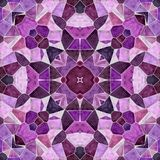 Mosaic Kaleidoscope Seamless Pattern Background - Purple, Violet, Fuchsia, Pink, Orchid And Maroon Color Colored With Gray Royalty Free Stock Image