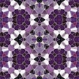 Mosaic kaleidoscope seamless pattern background - purple, violet and pink colored with gray grout. Mosaic kaleidoscope seamless pattern texture background Royalty Free Stock Image