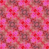 Mosaic kaleidoscope seamless pattern background - pink, red and purple colored with gray grout. Mosaic kaleidoscope seamless pattern texture background - pink vector illustration