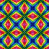 Mosaic kaleidoscope seamless texture background - rainbow spectrum colored Stock Photo