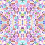 Mosaic kaleidoscope seamless texture background - sweet pastel multi colored with white grout Stock Photo