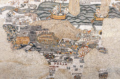 Mosaic from the Kayanos Church stock image