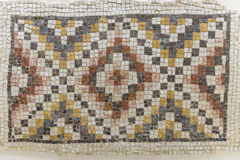 Mosaic from the Kayanos Church in Mount Nebo royalty free stock photography