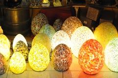 Mosaic  lamps Stock Photography