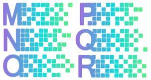 Mosaic latin alphabet set. Vector illustration vector illustration