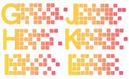 Mosaic latin alphabet set. Vector illustration stock illustration