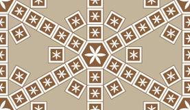 Mosaic Le Domus Romane brown flower inside seamless pattern Royalty Free Stock Photos