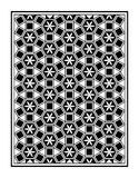 Mosaic Le Domus Romane flower point triangle frame. This illustration is abstract Le Domus Romane black and white color mosaic in frame Stock Illustration