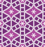 Mosaic Le Domus Romane modern cirkel purper naadloos patroon Stock Foto's