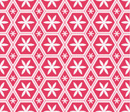 Mosaic Le Domus Romane modern hexagon flower seamless pattern. This illustration is abstract Le Domus Romane with hexagon flower in pink color background and Vector Illustration