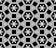 Mosaic Le Domus Romane style seamless pattern. This illustration is abstract redraw mosaic Le Domus Romane Assisi in seamless pattern Stock Photo