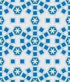 Mosaic LE Domus Tomane το σύγχρονο μπλε επεκτείνει το άνευ ραφής σχέδιο Στοκ φωτογραφία με δικαίωμα ελεύθερης χρήσης