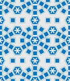 Mosaic Le Domus Tomane modern blue extend seamless pattern Royalty Free Stock Photo