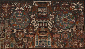 Mosaic on Library of National University of Mexico Royalty Free Stock Photography