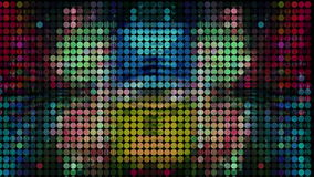 Mosaic light spectrum stock footage