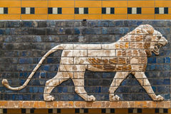 Mosaic of a Lion on the Ishtar Gate Royalty Free Stock Photography