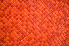 Mosaic of the little red bricks. Royalty Free Stock Images