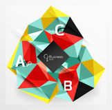 Mosaic low poly abstract background with infographics. Abc options with text. Vector template background for workflow layout, diagram, number options or web Stock Photo