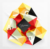 Mosaic low poly abstract background with infographics. Abc options with text. Vector template background for workflow layout, diagram, number options or web Stock Photography