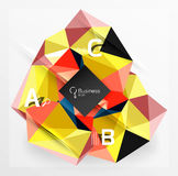 Mosaic low poly abstract background with infographics Stock Photo