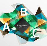 Mosaic low poly abstract background with infographics. Abc options with text. Vector template background for workflow layout, diagram, number options or web Vector Illustration