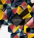 Mosaic low poly abstract background with infographics Royalty Free Stock Photo