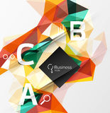 Mosaic low poly abstract background with infographics Stock Photos