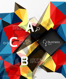 Mosaic low poly abstract background with infographics Royalty Free Stock Image