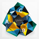 Mosaic low poly abstract background with infographics Royalty Free Stock Photos