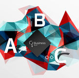 Mosaic low poly abstract background with infographics Royalty Free Stock Photography