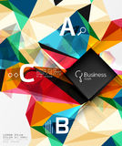 Mosaic low poly abstract background with infographics Stock Images