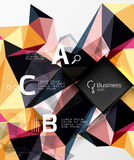 Mosaic low poly abstract background with infographics Stock Image