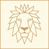 Mosaic Low Poly Lion Royalty Free Stock Photos