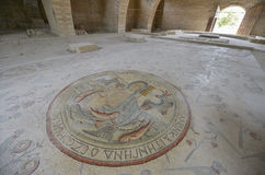 Mosaic, Madaba, Jordan. Ancient mosaic in Madaba, Jordan Royalty Free Stock Photos