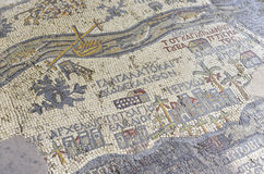 Mosaic, Madaba, Jordan. Mosaic in the greek Orthodox Basilica of Saint George of Madaba, Jordan Stock Photos