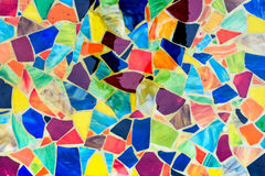 Mosaic made of Colorful pieces from tiles. For backgrounds Royalty Free Stock Photography