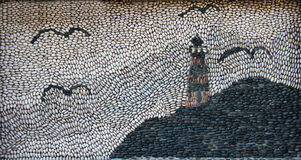 Mosaic made of pebbles Royalty Free Stock Image