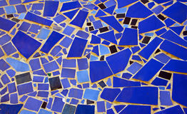 Mosaic made of stones. Mosaic made of blue stones Royalty Free Stock Photo